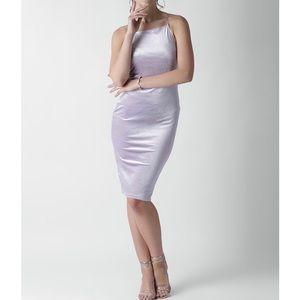 Forever 21 Lavender Velvet Finish Bodycon Dress